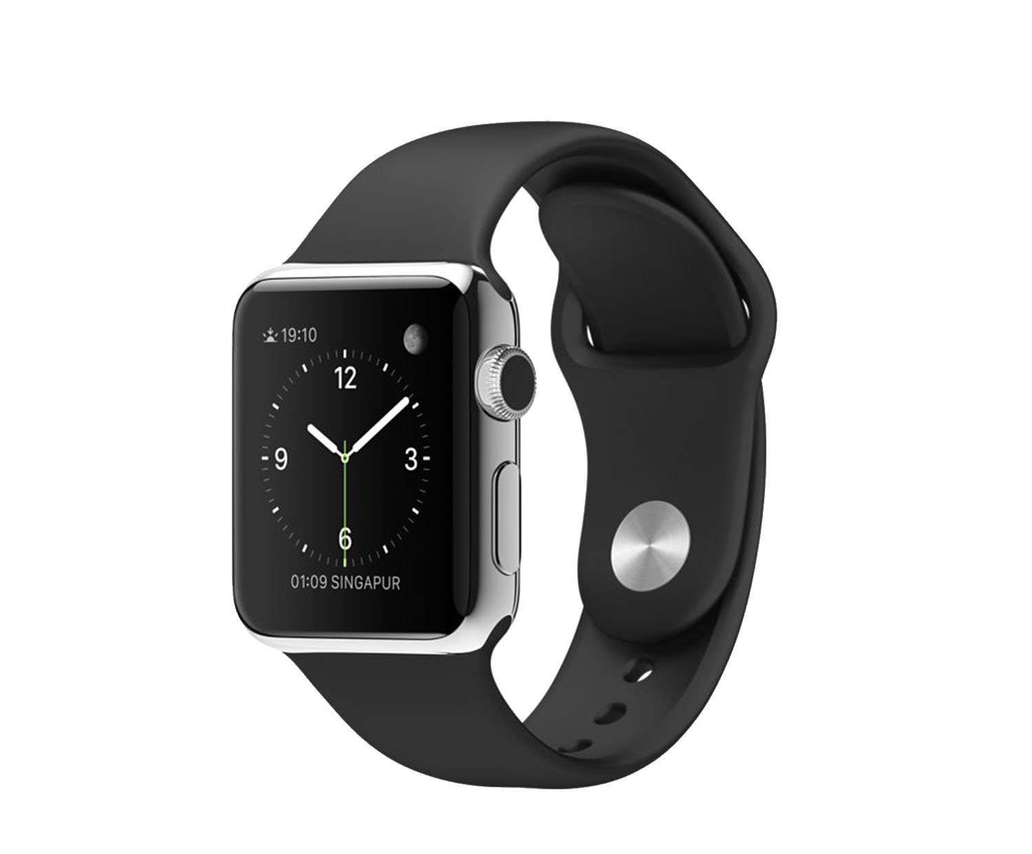 apple watch 2015 wi fi 38 mm edelstahlgeh use space. Black Bedroom Furniture Sets. Home Design Ideas