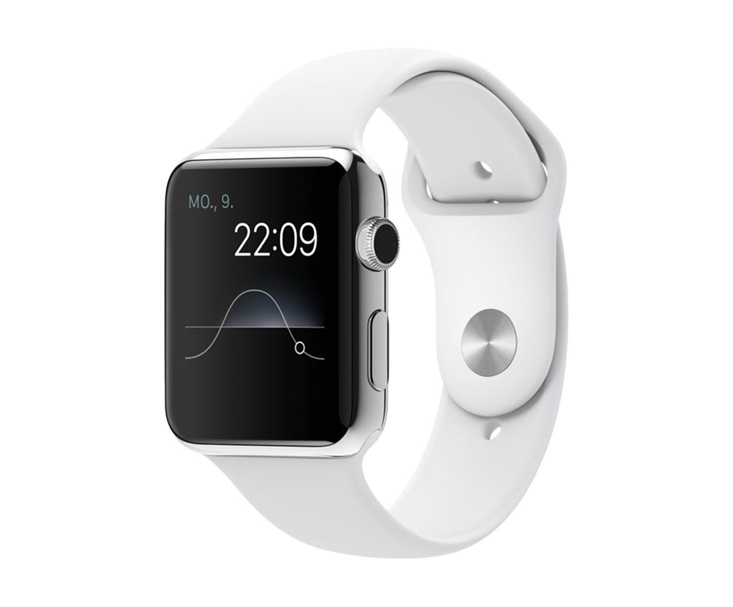 apple watch 2015 wi fi 42 mm edelstahlgeh use silber. Black Bedroom Furniture Sets. Home Design Ideas