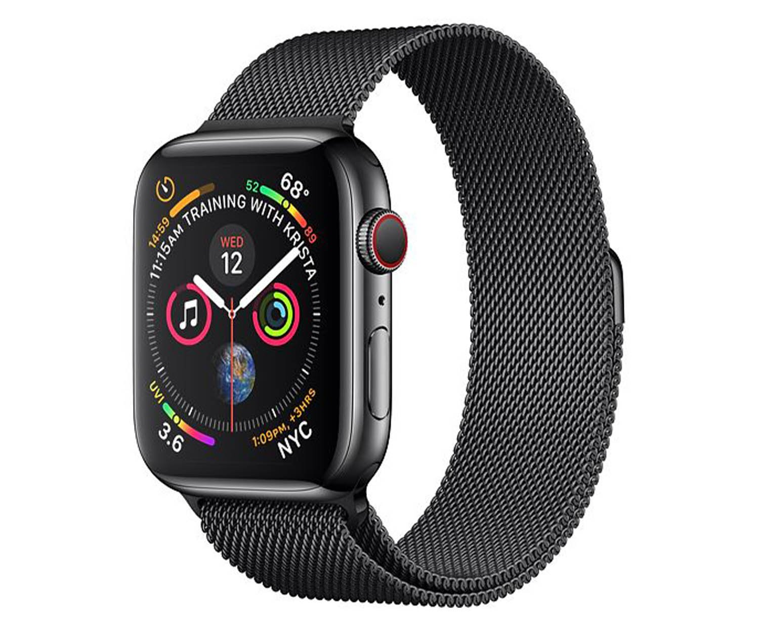 apple watch series 4 gps cellular 44 mm edelstahl. Black Bedroom Furniture Sets. Home Design Ideas