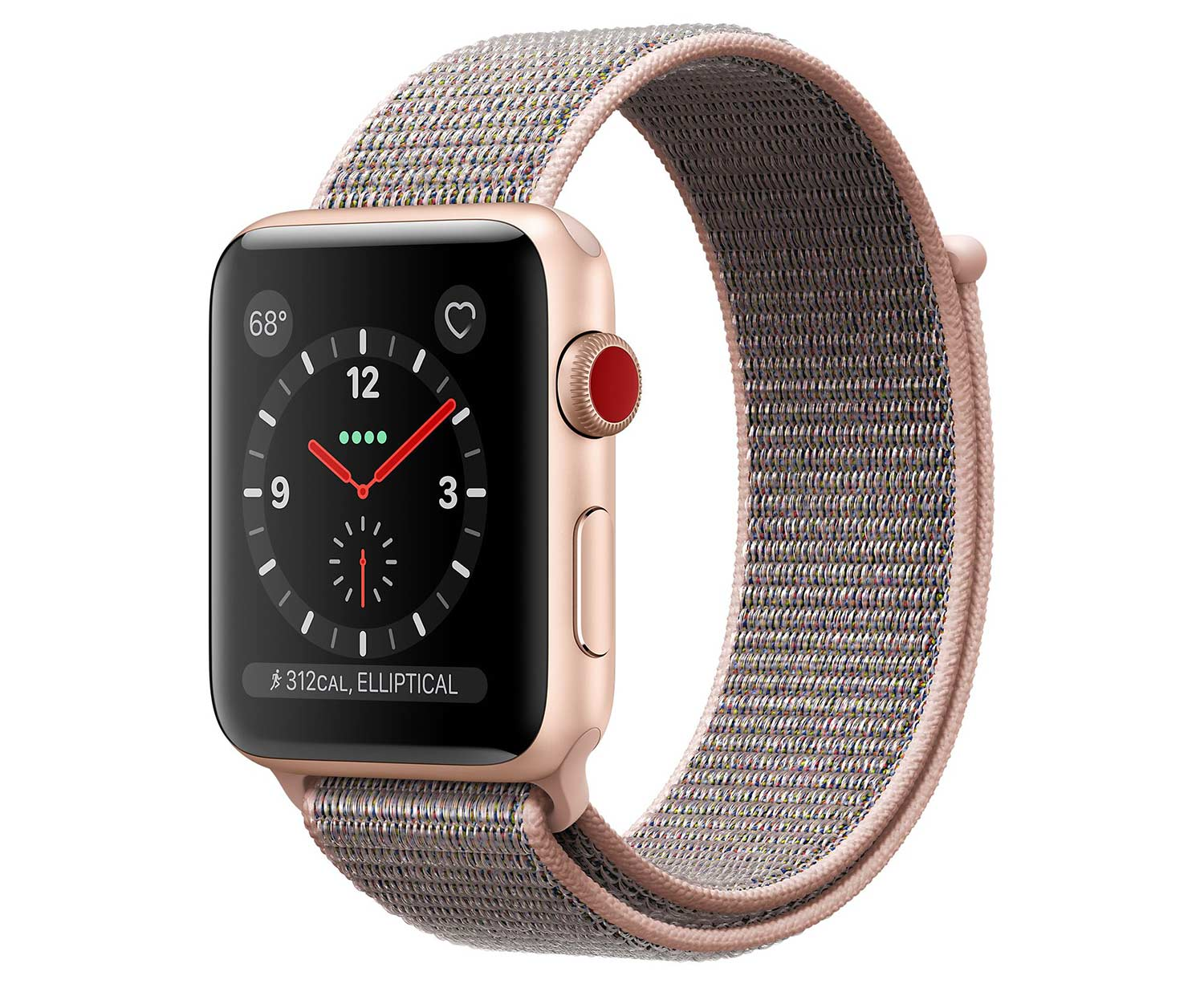 apple watch series 3 gps cellular 42 mm aluminiumgeh use gold. Black Bedroom Furniture Sets. Home Design Ideas