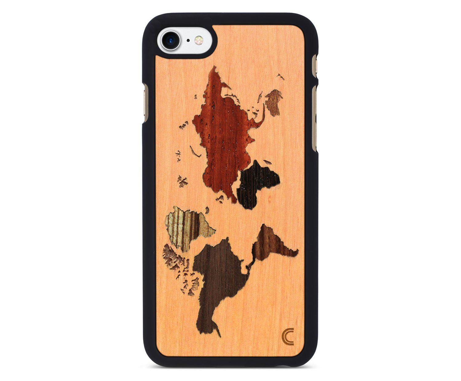holz case f r iphone world map. Black Bedroom Furniture Sets. Home Design Ideas