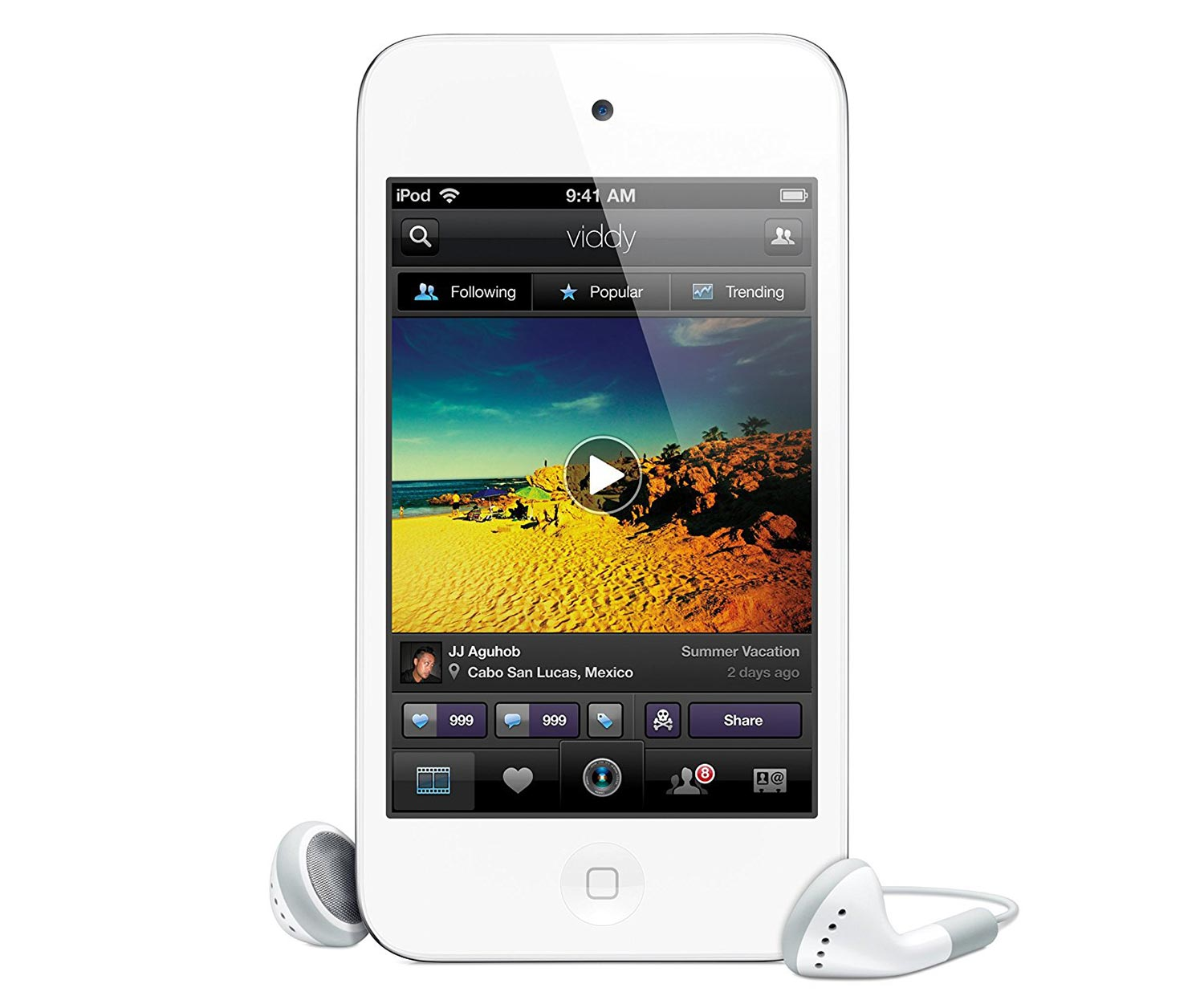 apple ipod touch 4 generation 8 gb weiss. Black Bedroom Furniture Sets. Home Design Ideas