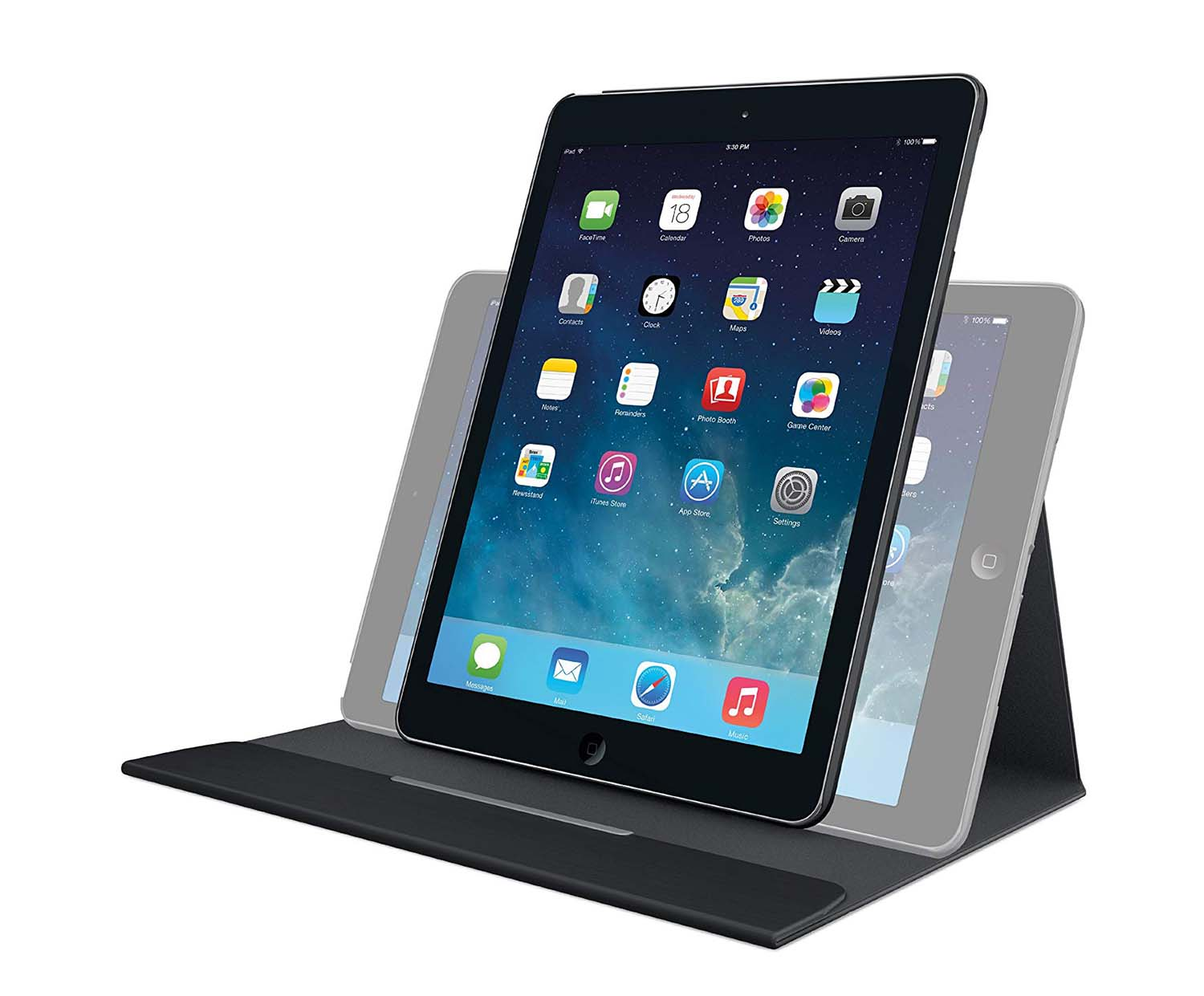 logitech turnaround f r ipad air 2017 18 schwarz. Black Bedroom Furniture Sets. Home Design Ideas